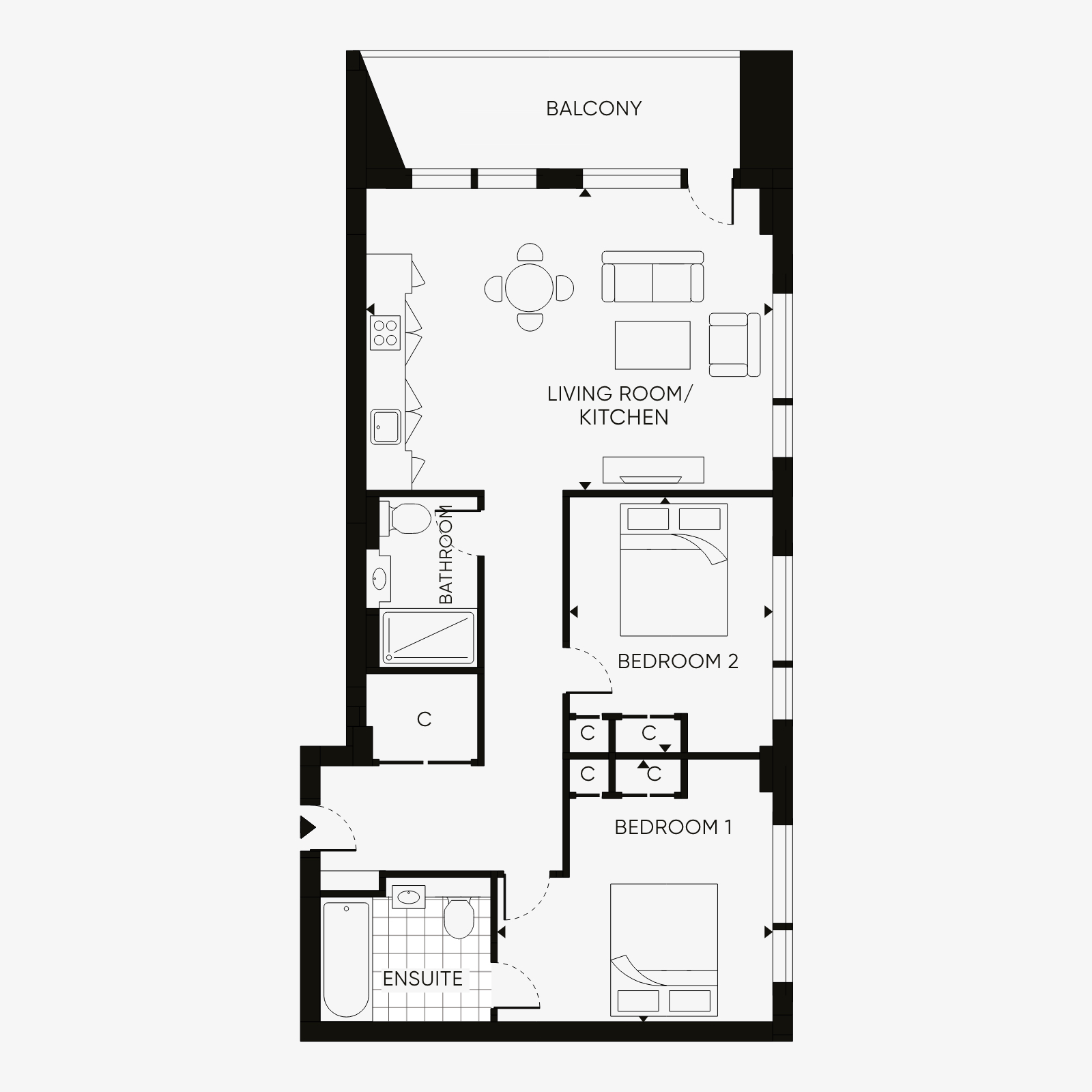 Two bedroom type 3