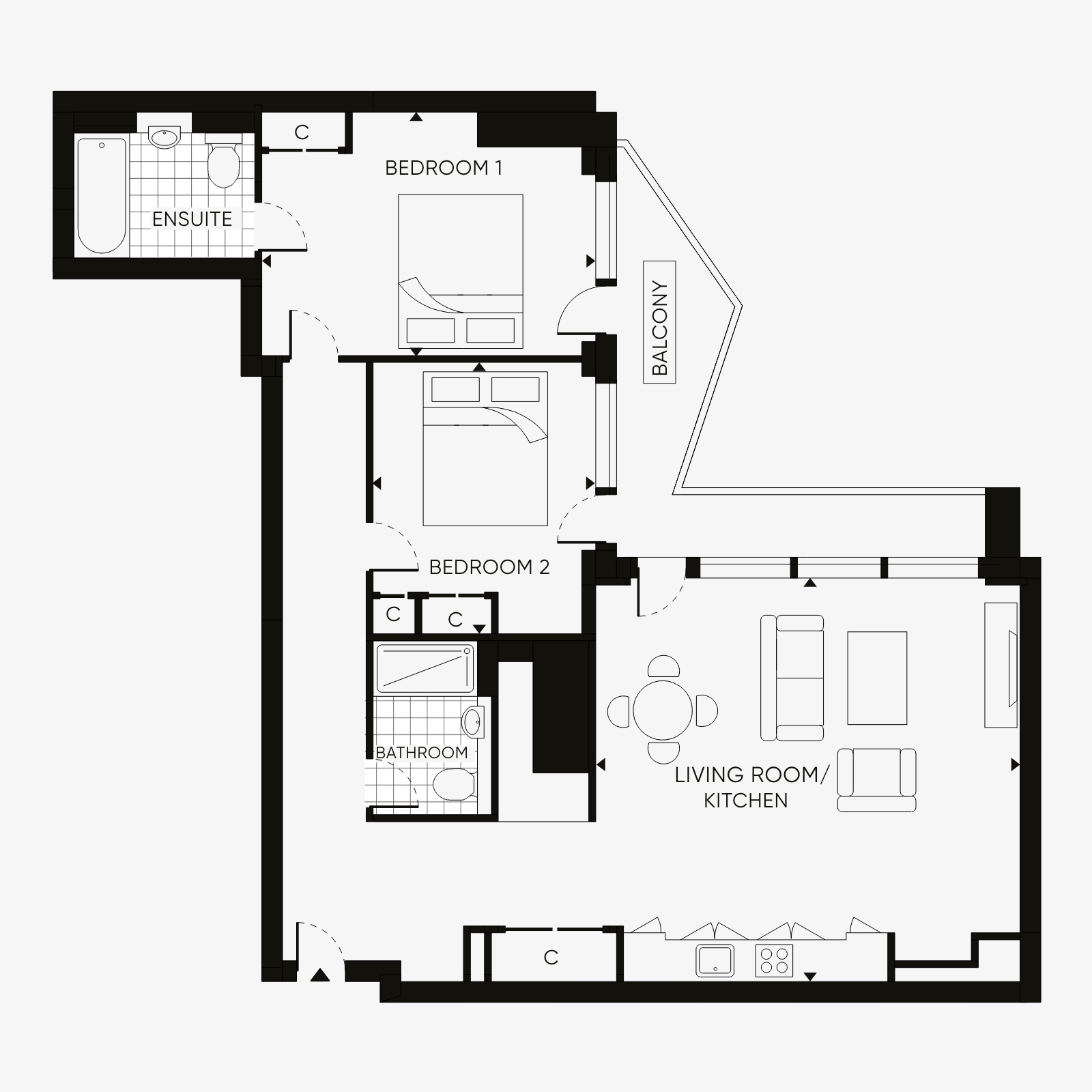 Two bedroom type 5
