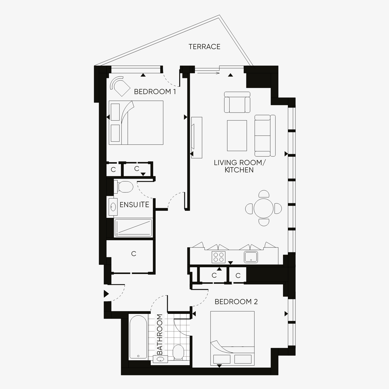Two Bedroom type 1
